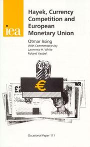 Cover of: Hayek, Currency Competition and European Monetary Union