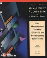 Cover of: Cost Measurement Systems