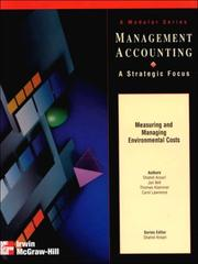 Cover of: Measuring and Managing Environmental Costs