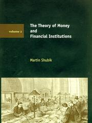 Cover of: The Theory of Money and Financial Institutions, Vol. 2