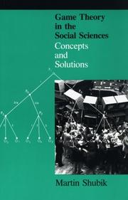 Cover of: Game Theory in the Social Sciences, Vol. 1: Concepts and Solutions