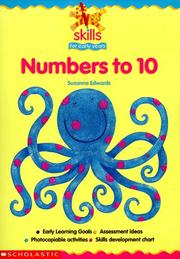 Cover of: Numbers to 10 (Skills for Early Years)