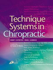 Cover of: Technique Systems in Chiropractic
