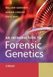 Cover of: An Introduction to Forensic Genetics