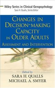 Cover of: Changes in Decision-Making Capacity in Older Adults