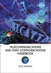 Cover of: Telecommunications and Data Communications Handbook