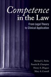 Cover of: Competence in the Law