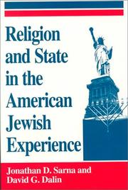 Cover of: Religion and State in the American Jewish Experience