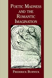 Cover of: Poetic Madness And Romantic Imag