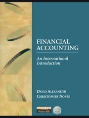 Cover of: International Introduction to Financial Accounting