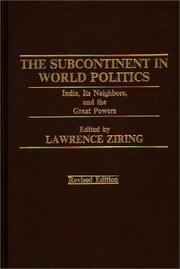 Cover of: The Subcontinent in World Politics