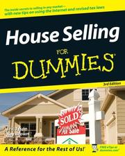 Cover of: House Selling For Dummies, 3rd edition