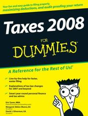 Cover of: Taxes 2008 For Dummies (For Dummies (Business & Personal Finance))