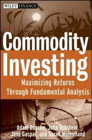 Cover of: Commodity Investing
