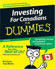 Cover of: Investing for Canadians for Dummies® (For Dummies)