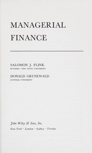 Cover of: Managerial finance