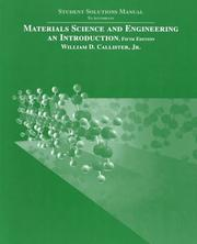 Cover of: Materials Science and Engineering
