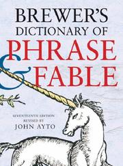 Cover of: Brewer's dictionary of phrase and fable