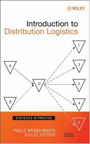 Cover of: Introduction to Distribution Logistics (Statistics in Practice)