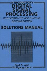 Cover of: Introductory Digital Signal Processing with Computer Applications, SOL 2 Rev t/a