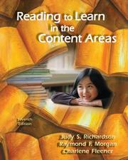 Cover of: Reading to Learn in the Content Areas