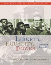 Cover of: Liberty, Equality, Power: Volume II
