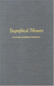 Cover of: Biographical Memoirs: V.63 (<i>Biographical Memoirs:</i> A Series)