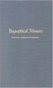 Cover of: Biographical Memoirs: V.68 (<i>Biographical Memoirs:</i> A Series)
