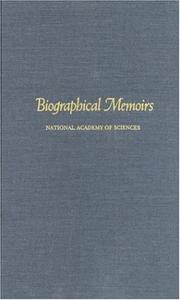 Cover of: Biographical Memoirs: V.69 (<i>Biographical Memoirs:</i> A Series)