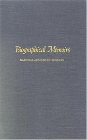 Cover of: Biographical Memoirs: V.70 (<i>Biographical Memoirs:</i> A Series)