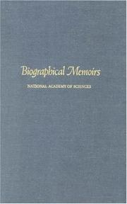 Cover of: Biographical Memoirs: V.73 (<i>Biographical Memoirs:</i> A Series)