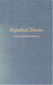 Cover of: Biographical Memoirs: V.74 (<i>Biographical Memoirs:</i> A Series)