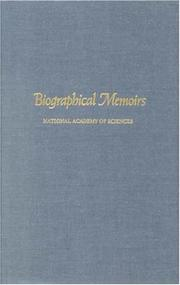 Cover of: Biographical Memoirs: V.76 (<i>Biographical Memoirs:</i> A Series)