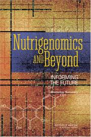 Cover of: Nutrigenomics and Beyond