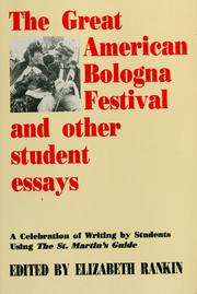 Cover of: The Great American Bologna Festival and other student essays
