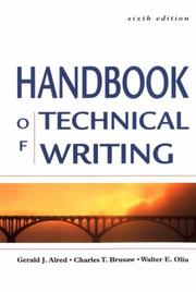 Cover of: Handbook of Technical Writing