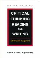 Cover of: Critical Thinking, Reading, and Writing