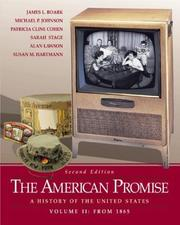 Cover of: The American Promise: A History of the United States, Volume II