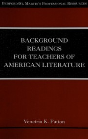 Cover of: Background Readings for Teachers of American Literature