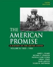 Cover of: The American Promise: A History of the United States, Volume B