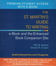 Cover of: The St. Martin's Guide to Writing e-Book and Web Site: Student Access Code