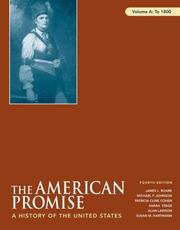 Cover of: The American Promise: A History of the United States, Volume A