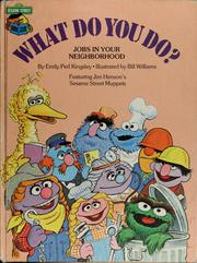 Cover of: What do you do?