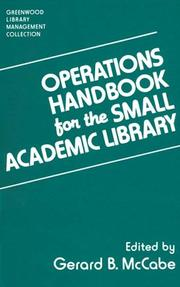 Cover of: Operations Handbook for the Small Academic Library