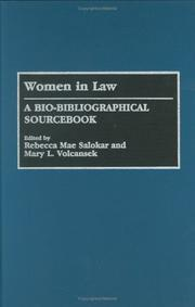 Cover of: Women in law
