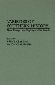 Cover of: Varieties of southern history