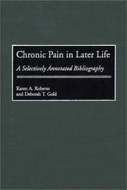 Cover of: Chronic pain in later life