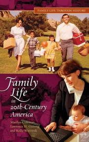 Cover of: Family Life in 20th-Century America (Family Life through History)