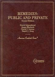 Cover of: Remedies