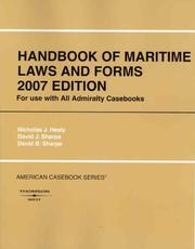 Cover of: Handbook of Maritime Laws and Forms (American Casebook)